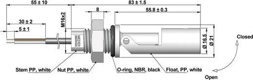 StandexMeder Electronics Füllstands-Sensor 1 St. LS03-1A66-PP-500W (Ø x L) 21 mm x 83 mm