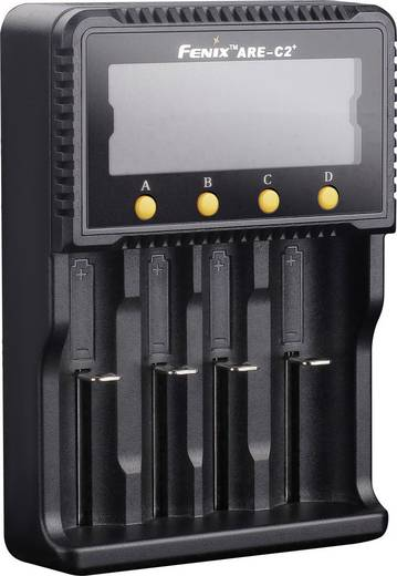 Fenix ARE-C2 Rundzellen-Ladegerät NiCd, NiMH, LiIon 10440, 14500, 16340, 18650, 26650, Micro (AAA), Mignon (AA), Baby (