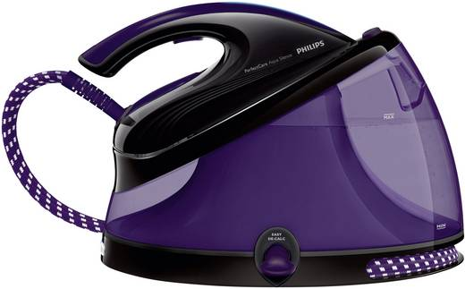 Dampfbügelstation Philips PerfectCare Aqua GC8650/80 2400 W Schwarz, Violett (transparent)