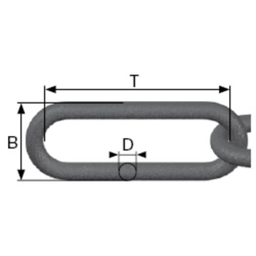 Absperrkette Schwarz Kunststoff dörner + helmer 128955 12.5 m