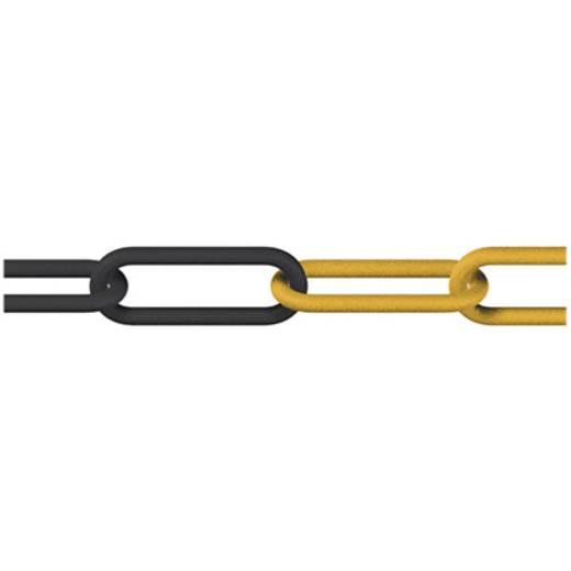 Absperrkette Schwarz, Gelb Kunststoff dörner + helmer 128966 25 m