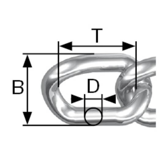 Geschweisste Ringkette Nickel Stahl vernickelt dörner + helmer 171639 15 m