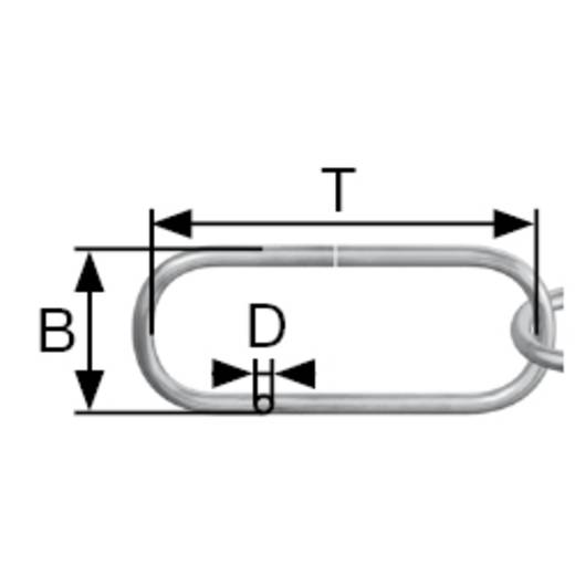 Zierkette Alt-Messing Stahl dörner + helmer 153642 20 m