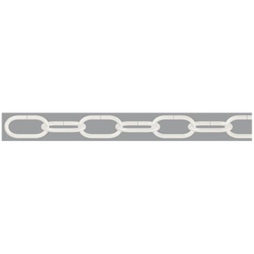 Zierkette Weiß Stahl dörner + helmer 153539 50 m