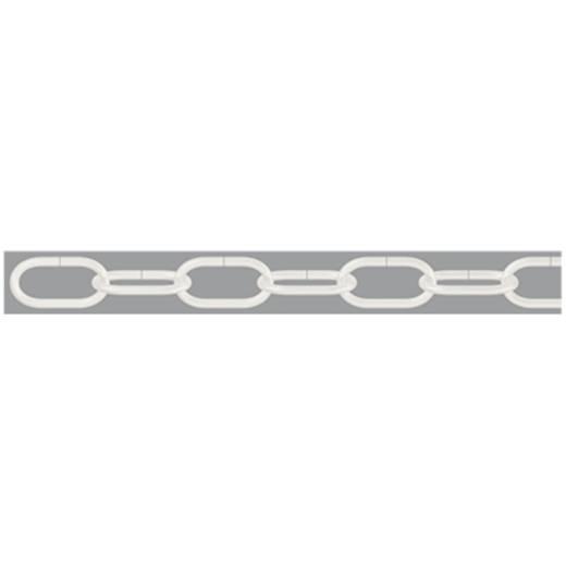 Zierkette Weiß Stahl vernickelt dörner + helmer 153265 20 m
