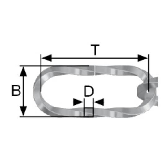 Zierkette Alt-Messing Stahl dörner + helmer 153633 10 m