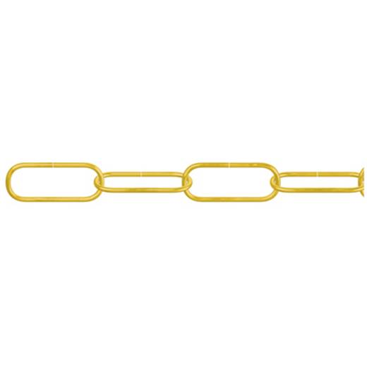 Zierkette Messing (poliert) Stahl dörner + helmer 153637 20 m