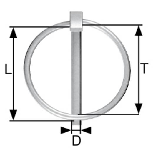 dörner + helmer Klappsplint (Ø x L) 8 mm x 42 mm Stahl galvanisch verzinkt 50 St.