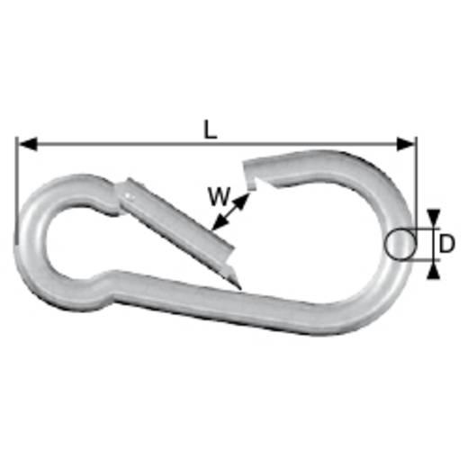 dörner + helmer 4815734 Karabinerhaken Aluminium silber eloxiert 60 mm 20 St.
