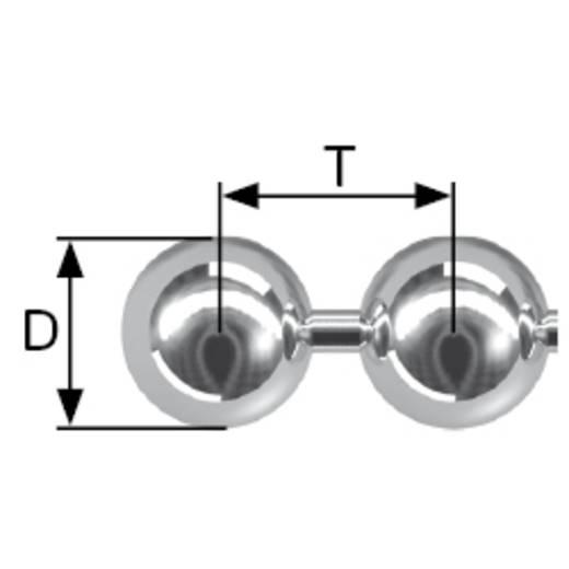 Kugelkette Nickel Messing vernickelt dörner + helmer 159332 50 m