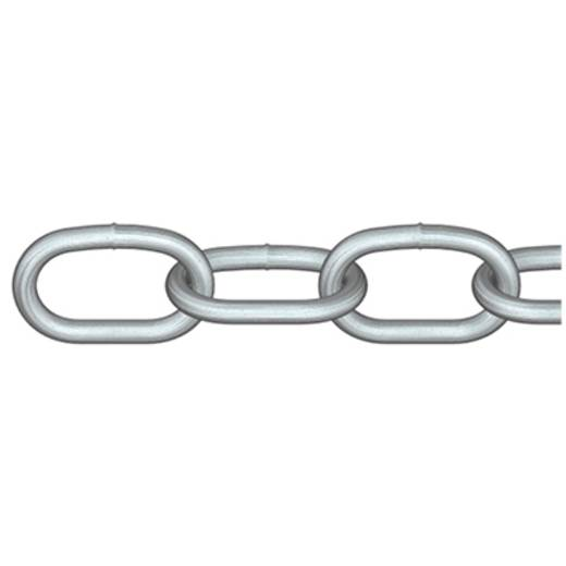 Rundstahlkette Silber Stahl feuerverzinkt dörner + helmer 171874F 30 m