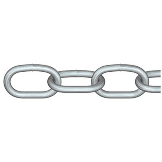 Rundstahlkette Silber Stahl feuerverzinkt dörner + helmer 171935 15 m
