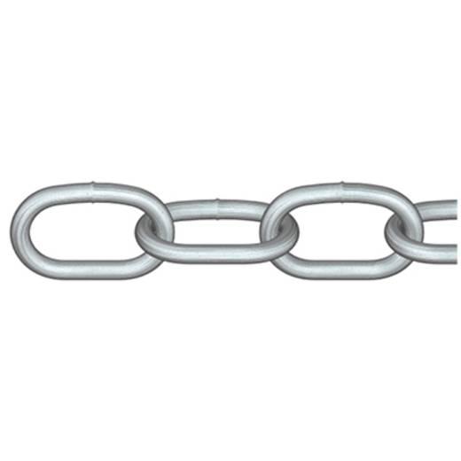 Rundstahlkette Silber Stahl galvanisch verzinkt dörner + helmer 4823302L 5 m