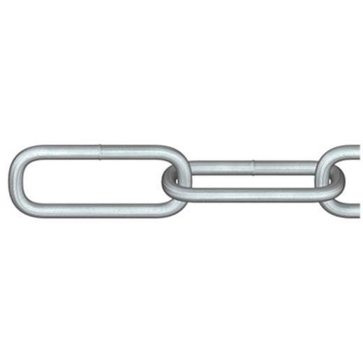 Rundstahlkette Silber Stahl galvanisch verzinkt dörner + helmer 171896 10 m
