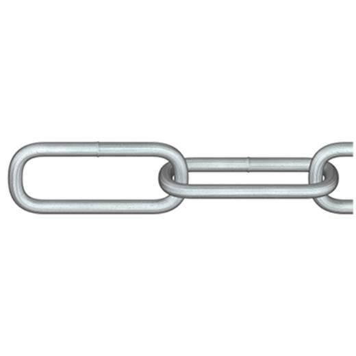 Rundstahlkette Silber Stahl galvanisch verzinkt dörner + helmer 4824502L 2 m