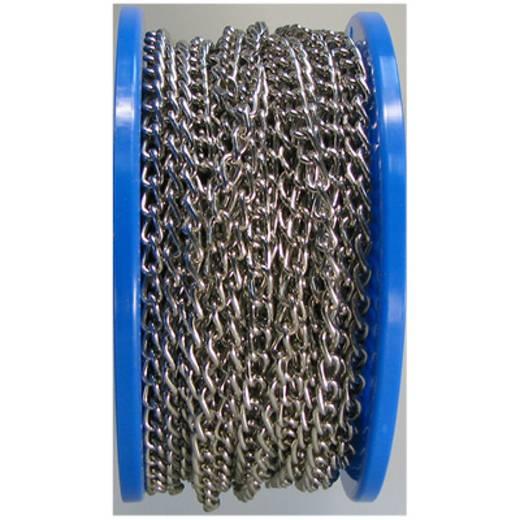 Geschweisste Ringkette Nickel Stahl vernickelt dörner + helmer 171662 50 m