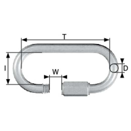 Kettennotglied mit Schraube 10 mm Stahl galvanisch verzinkt dörner + helmer 4815304 6 St.