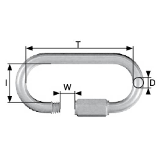 Kettennotglied mit Schraube 8 mm Edelstahl A2 dörner + helmer 4915284 6 St.
