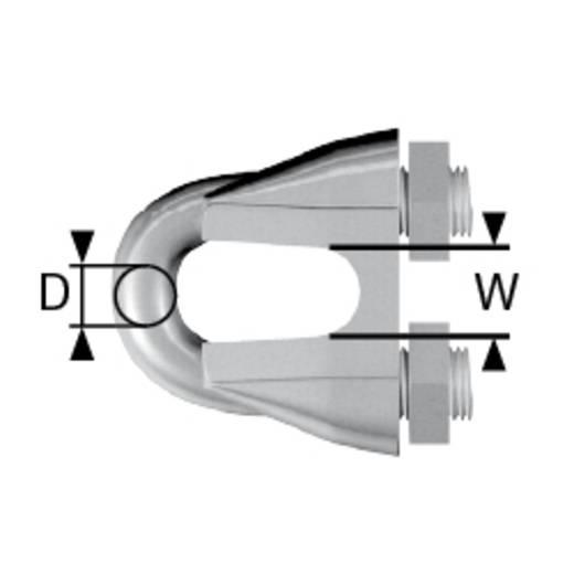 Seilklemme 9.5 mm Stahl verzinkt dörner + helmer 174204 100 St.
