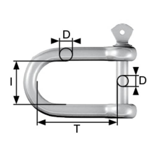 Schäkel 250 kg 10 mm Edelstahl A2 dörner + helmer 4918554 6 St.