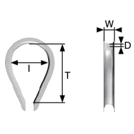 Kausche 4 mm Stahl galvanisch verzinkt dörner + helmer 174402 N/A 100 St.