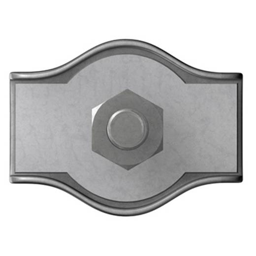 Seilklemme 6 mm Stahl galvanisch verzinkt dörner + helmer 4814414 10 St.