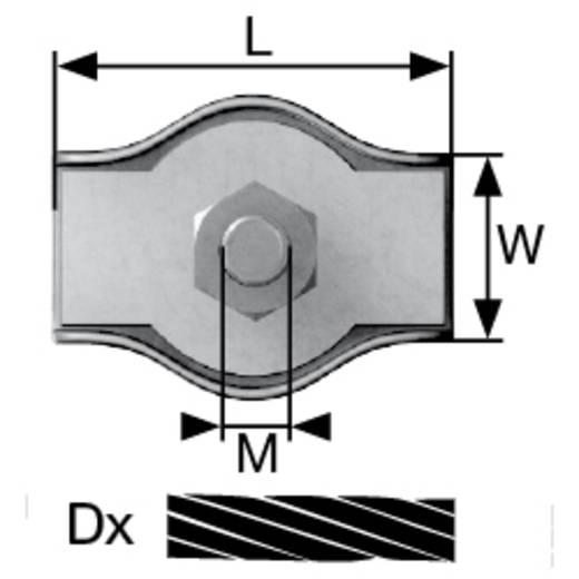 Drahtseilklemme 6 mm M6 Stahl galvanisch verzinkt dörner + helmer 174534 100 St.
