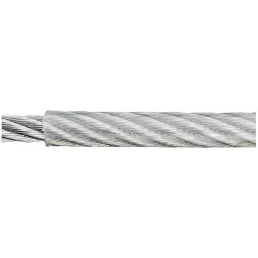 Stahlseil verzinkt (Ø x L) 2 mm x 120 m dörner + helmer 190041 Grau