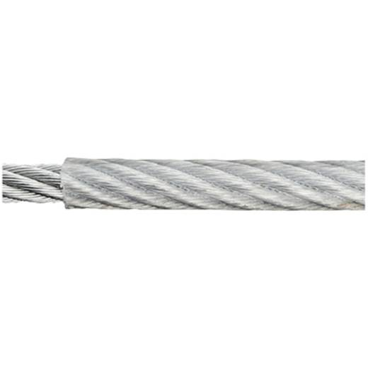 Stahlseil verzinkt (Ø x L) 4 mm x 50 m dörner + helmer 190040 Grau