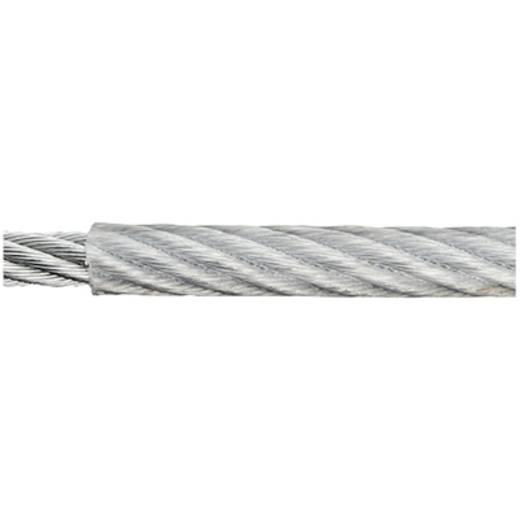 Stahlseil verzinkt (Ø x L) 5 mm x 40 m dörner + helmer 190042 Grau