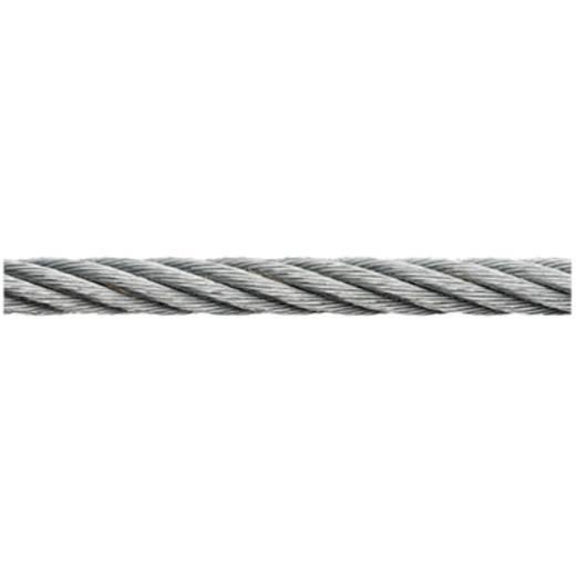 Stahlseil verzinkt (Ø x L) 6 mm x 100 m dörner + helmer 190056 Grau