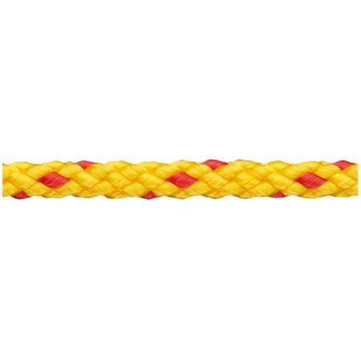 Polypropylenschotleine geflochten (Ø x L) 8 mm x 150 m dörner + helmer 190081 Gelb, Rot