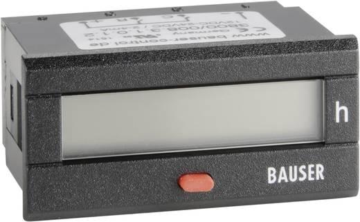 Bauser 3800.2.1.0.1.2 Digitaler Betriebsstunden- Zeitzähler Typ 3800, 115 - 240 V/AC Einbaumaße 45 x 22 mm