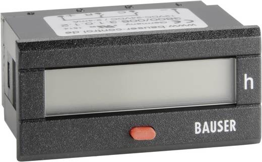 Bauser 3800.2.1.0.1.2 Digitaler Betriebsstunden- Zeitzähler Typ 3800, 12 - 24 V/DC Einbaumaße 45 x 22 mm