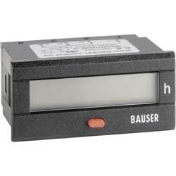 Počítadlo provozních hodin Bauser, 3800.3.1.0.1.2 AC, 115 - 240 VAC, 45 x 22 mm, IP54
