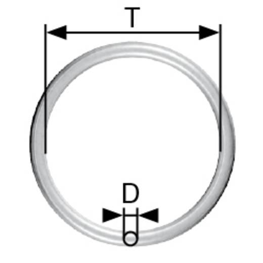 Geschweißte Ringe Innen-Durchmesser: 25 mm Stahl galvanisch verzinkt 10 St. dörner + helmer 4810134