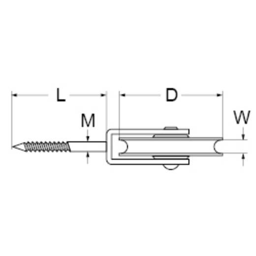Vogelrolle 50 mm Kunststoff dörner + helmer 4811094 6 St.