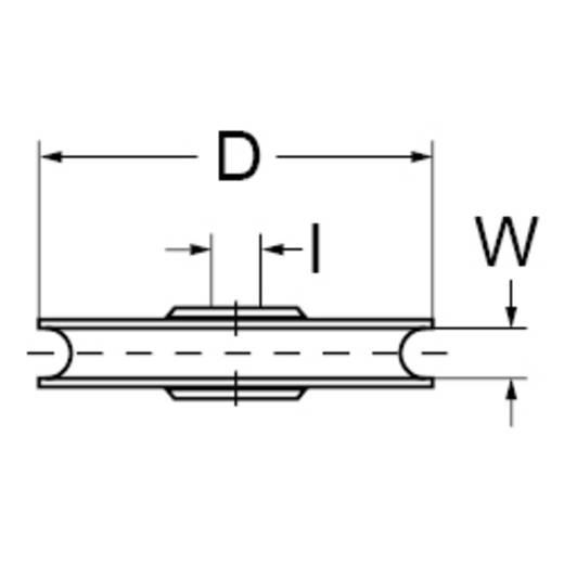 dörner + helmer 4811414 Blockseilrolle 60 mm Kunststoff 6 St.