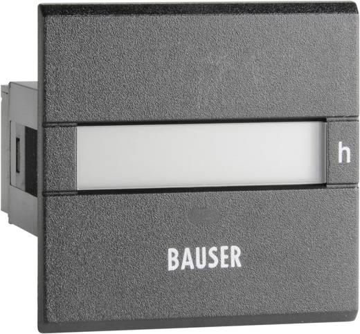 Bauser 3801.2.1.0.1.2 Digitaler Betriebsstunden- Zeitzähler Typ 3801, 12 - 24 V/DC Einbaumaße 45 x 45 mm