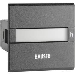 Počítadlo provozních hodin Bauser, 3801.2.1.0.1.2 AC, 115 - 240 VAC, 45 x 45 mm, IP65