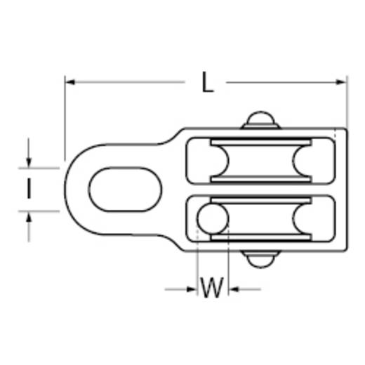 Blockseilrolle, doppelt 30 mm Polyamid dörner + helmer 4816324 Gehäusematerial: Zinkdruckguss 6 St.