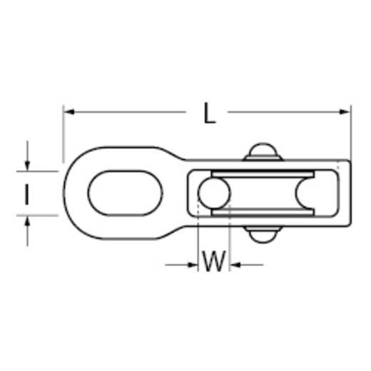 Blockseilrolle, doppelt 50 mm Polyamid dörner + helmer 4816504 Gehäusematerial: Zinkdruckguss 6 St.