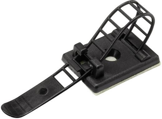 Befestigungssockel selbstklebend, schraubbar mit Befestigungsbinder Schwarz Conrad Components 1206770 WCT-64 25 St.