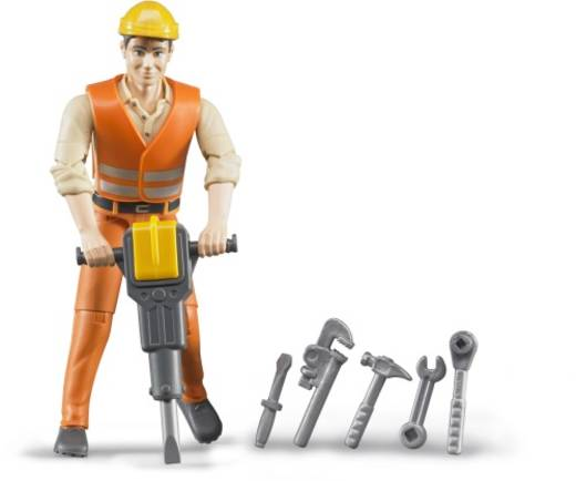 Bruder bworld Bauarbeiter mit Zubehör