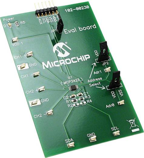 Entwicklungsboard Microchip Technology MCP3423EV