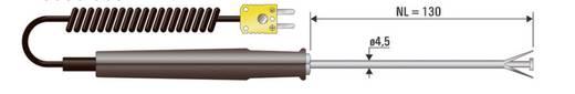 Oberflächenfühler B+B Thermo-Technik OHF 1xK NL 130 -50 bis +650 °C Fühler-Typ K Kalibriert nach Werksstandard (ohne Ze