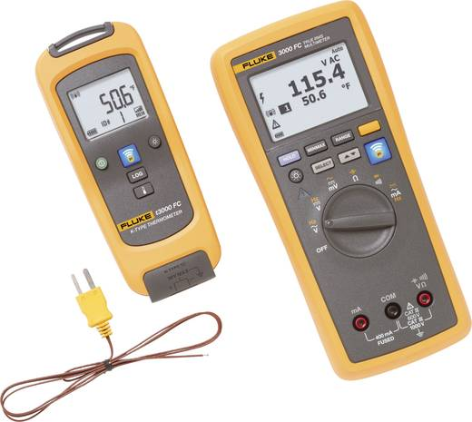 Hand-Multimeter digital Fluke FLK-T3000 FC KIT Kalibriert nach: Werksstandard (ohne Zertifikat) Grafik-Display, Datenlog