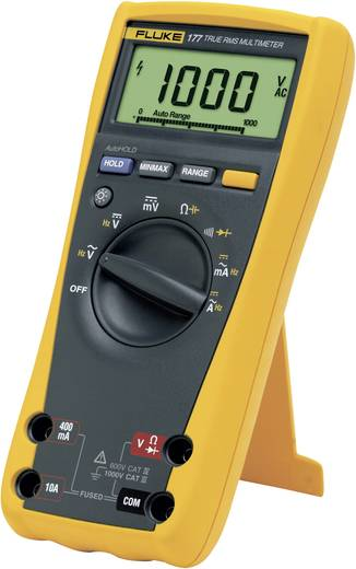 Hand-Multimeter digital Fluke 177 Kalibriert nach: Werksstandard (ohne Zertifikat) CAT III 1000 V, CAT IV 600 V Anzeige