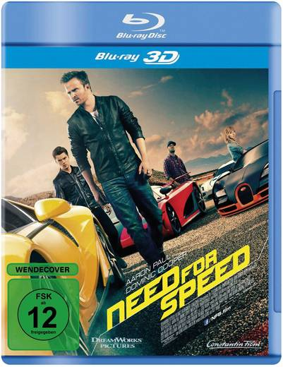 blu-ray 3D Need for Speed FSK: 12