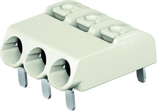 Federkraftklemmblock 0.75 mm² Polzahl 3 WAGO Lichtgrau 1 St.